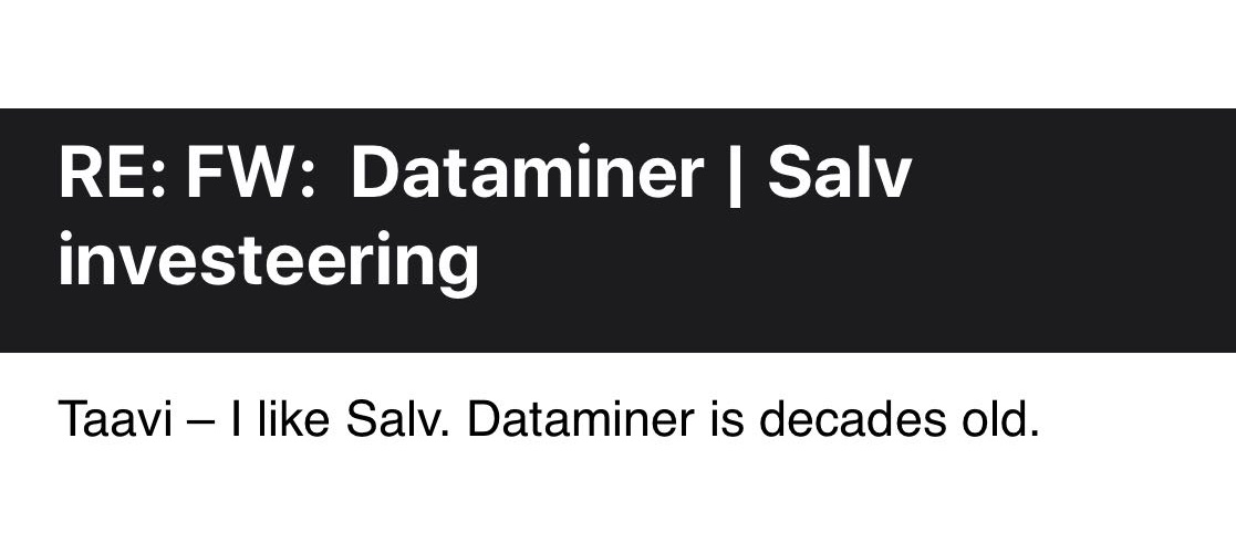 Dataminer is decades old